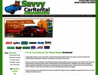 savvycarrental.com screenshot