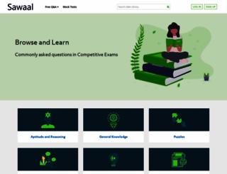 sawaal.com screenshot