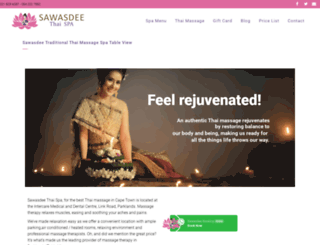 sawasdeethaispa.co.za screenshot