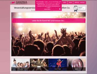 saxonia-show.de screenshot