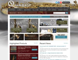 saxquest.com screenshot