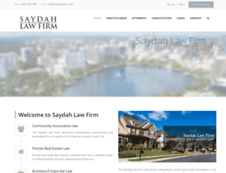 saydahlawfirm.com screenshot