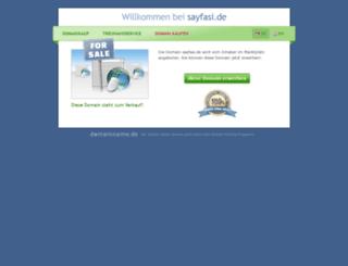 sayfasi.de screenshot
