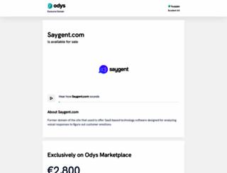 saygent.com screenshot
