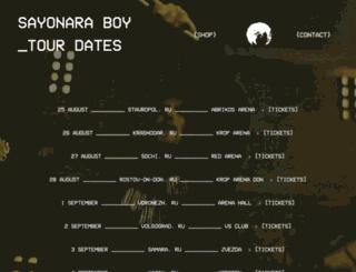 sayonaratour.ru screenshot