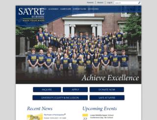 sayreschool.org screenshot