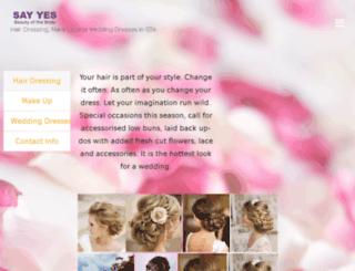 sayyestothedress.ca screenshot