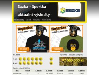 sazka-sportka-vysledky.com screenshot