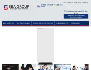 sba-group.pl screenshot