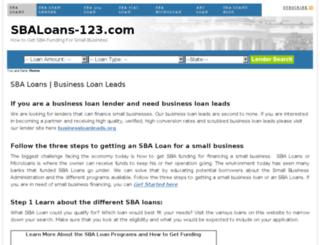 sbaloans-123.com screenshot