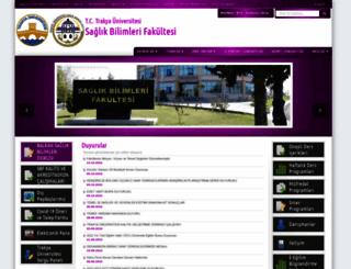 sbf.trakya.edu.tr screenshot
