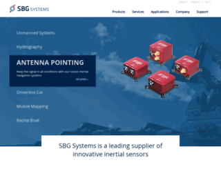 sbg-systems.com screenshot