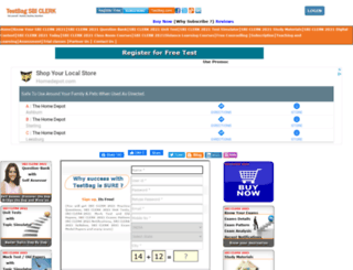 sbiclerk.testbag.com screenshot