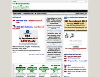 sbirecruitment2012.blogspot.in screenshot