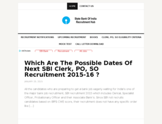 sbirecruitment2014.org screenshot