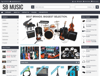 sbmusic.in screenshot