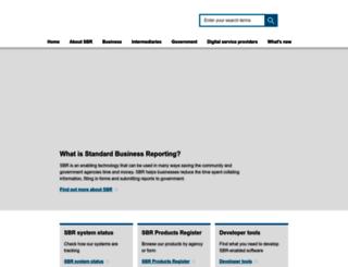 sbr.gov.au screenshot