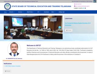 sbtet.telangana.gov.in screenshot