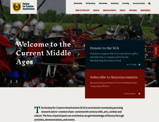 sca.org screenshot