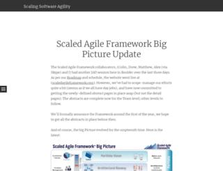 scalingsoftwareagility.wordpress.com screenshot