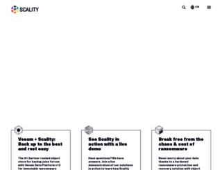 scality.com screenshot