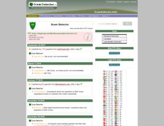 scamdetector.info screenshot