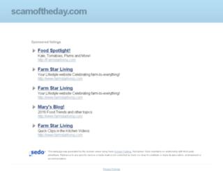 scamoftheday.com screenshot