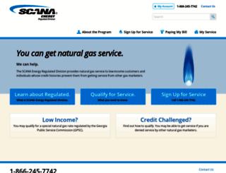 scanaenergyregulated.com screenshot