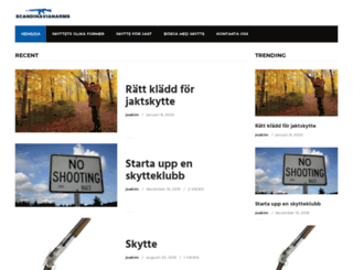 scandinavianarms.se screenshot