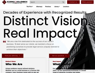 scarincihollenbeck.com screenshot
