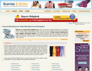 scarves-stoles-suppliers.com screenshot