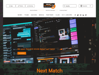 scc-volleyball.de screenshot