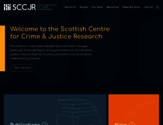 sccjr.ac.uk screenshot