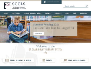 sccl.lib.mi.us screenshot