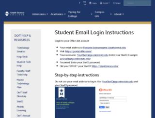 sccmail.southcentral.edu screenshot