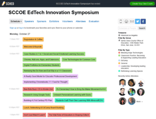 sccoeedtechinnovationsympos2014.sched.org screenshot