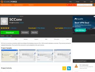 scconv.sourceforge.net screenshot