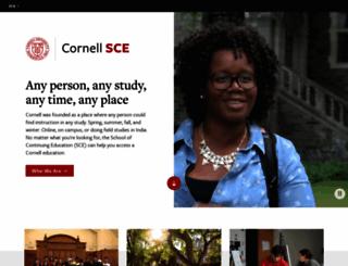 sce.cornell.edu screenshot