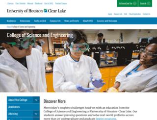 sce.uhcl.edu screenshot