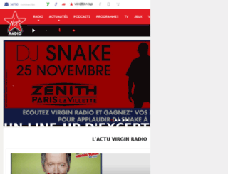 scenefrancaise.virginradio.fr screenshot