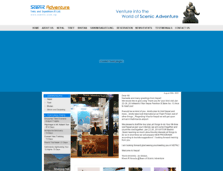 scenic.com.np screenshot