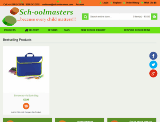 sch-oolmastersuniforms.com screenshot
