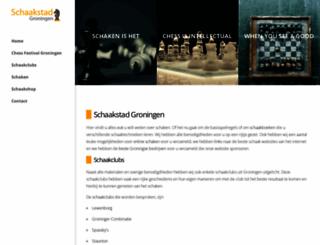 schaakstadgroningen.nl screenshot