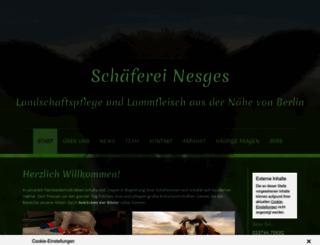 schaeferei-nesges.de screenshot