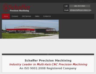 schafferprecision.com screenshot