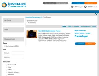 schaffhausen.kostenlosekleinanzeigen.ch screenshot