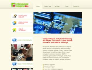 schaumburgcomputerfix.com screenshot