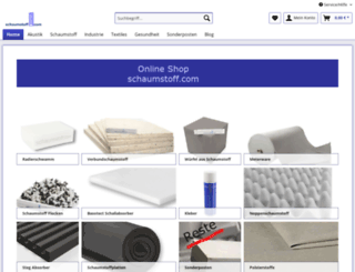 schaumstoff.com screenshot