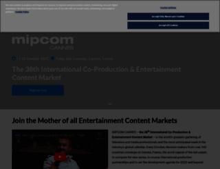 schedule.mipcom.com screenshot