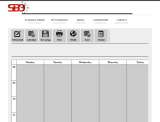 schedulebuilderonline.com screenshot